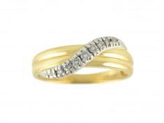 Златен пръстен с диаманти