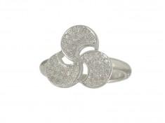 Сребърен пръстен с малки циркони