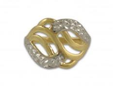 Масивен златен пръстен с гравюра