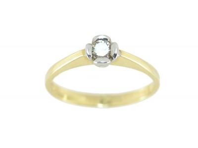 Елегантен златен пръстен с диамант