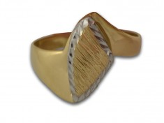 Интересен златен пръстен с два вида гравюра