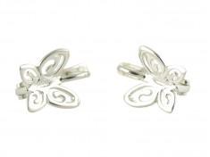 Сребърни обеци във форма на пеперуди