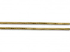 Плътен златен синджир в плетка Тондо