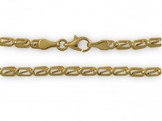 Златна гривна с правоъгълни елементи