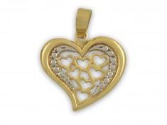 Масивен златен медальон Сърце