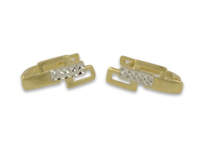Златни обеци с правоъгълни форми