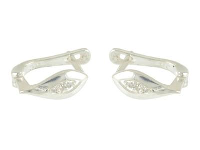 Сребърни обеци с форма на капка
