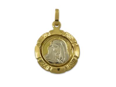 Златна Богородица с богати орнаменти