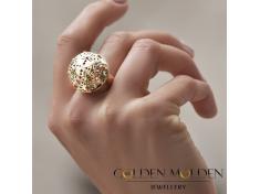 Златен пръстен в ретро-стил Корона
