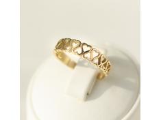 Златен пръстен със симетрично преплитане