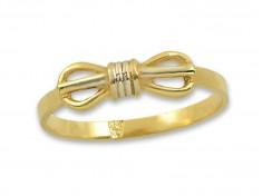 Златен пръстен с панделка