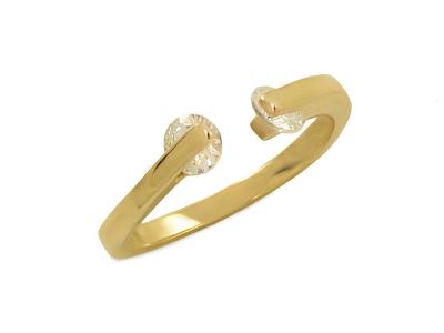 Златен пръстен тип Халка със сърчица