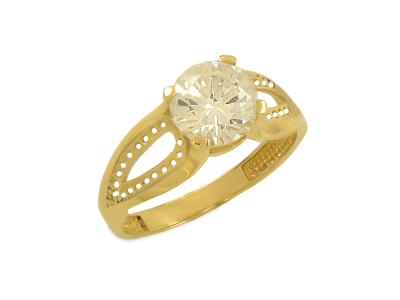 Златен пръстен от изрязани сърца
