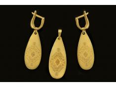Златен комплект Капка с шевица Канатица