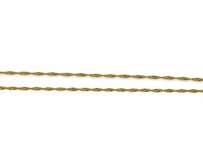 Златен синджир със спираловидна плекта