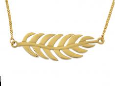 Златно колие с Листо